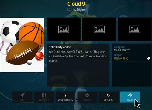 How To Install Cloud 9 Kodi Addon Step 18