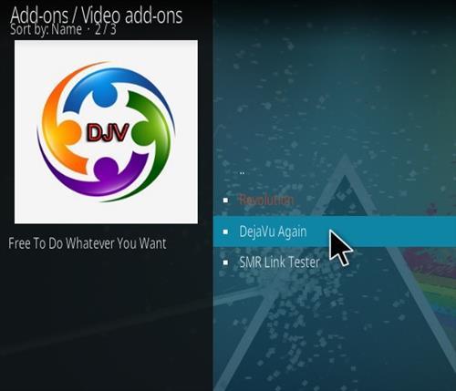 How To Install DejaVu Again Kodi Addon Step 17