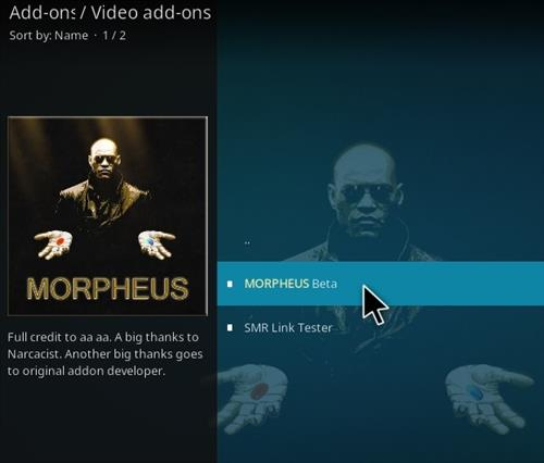 How To Install Morpheus Kodi Addon Step 17