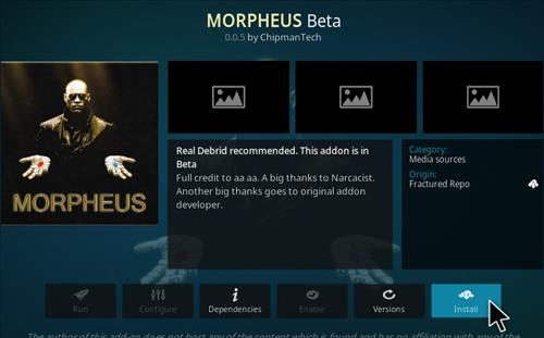 How To Install Morpheus Kodi Addon Step 18