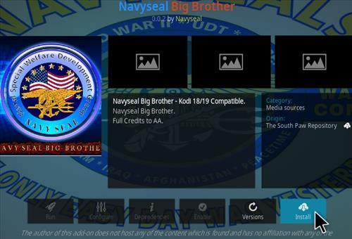 How To Install NavySeal Big Brother Kodi Addon Step 18
