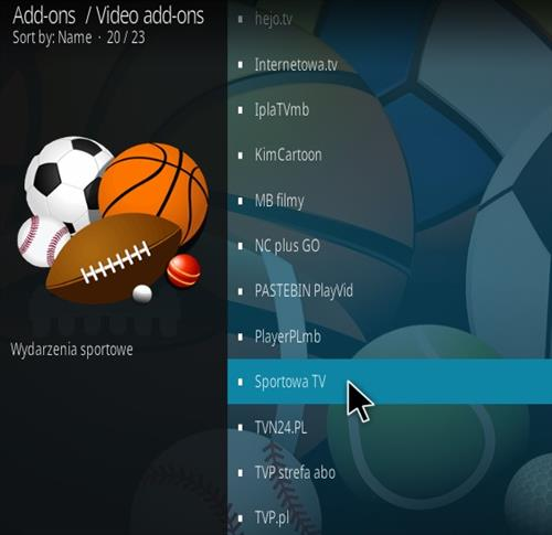 How To Install Sportowa TV Kodi Sports Addon Kodi 19 Matrix Step 17