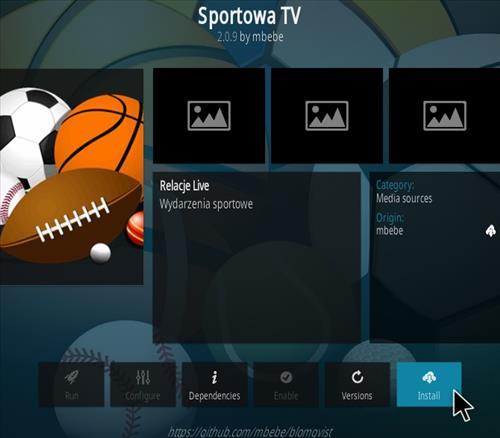 How To Install Sportowa TV Kodi Sports Addon Kodi 19 Matrix Step 18