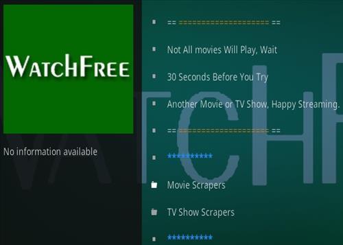How To Install Watch Free Kodi 18 Kodi Add-on Overview