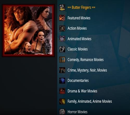 How To Install Butter Fingers Movies Kodi 19 Addon Overview