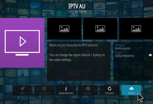 How To Install IPTV AU Kodi Addon Stp 17
