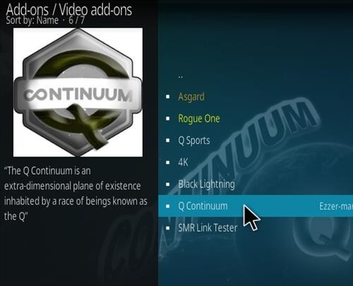 How To Install Q Continuum Kodi Addon Step 17