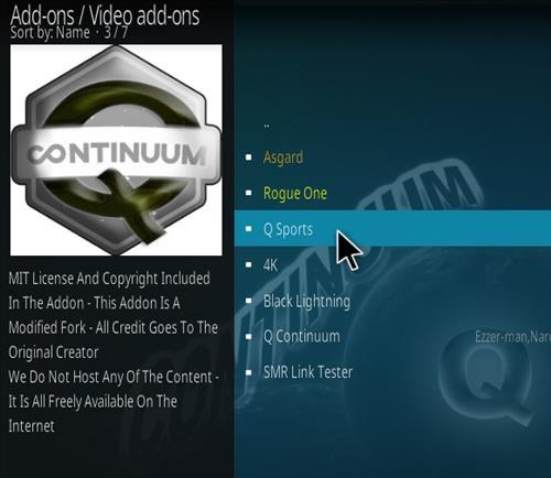 How To Install Q Sports Continuum Kodi Addon Step 17