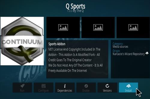 How To Install Q Sports Continuum Kodi Addon Step 18