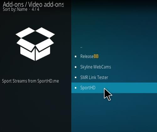 How To Install Sport HD Kodi Addon Kodi 19 Matrix Compatible Step 18