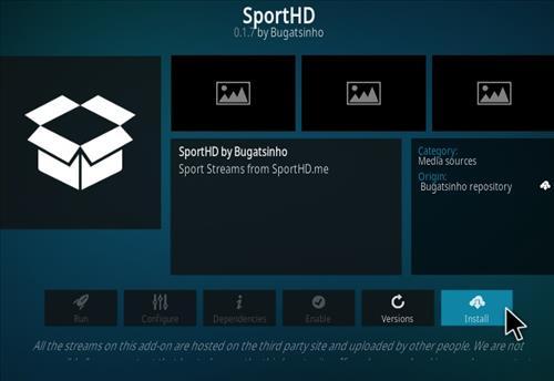 How To Install Sport HD Kodi Addon Kodi 19 Matrix Compatible Step 19