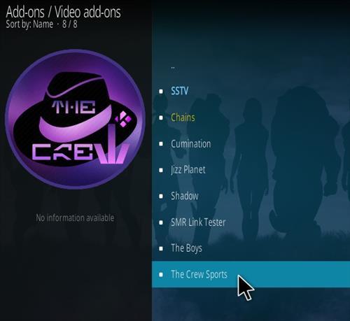 How To Install The Crew Sports Kodi Addon Step 17