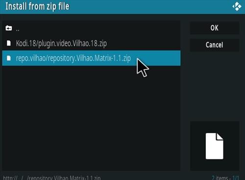 How To Install VILHAO Matrix Kodi Addon Step 12