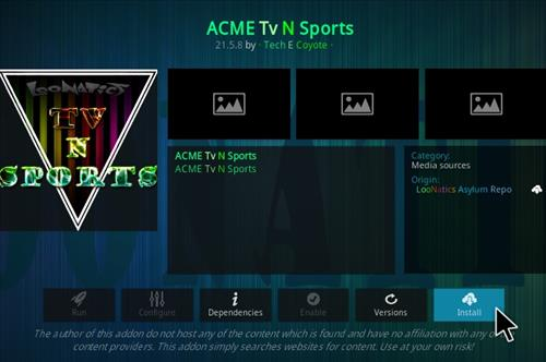 How To Install ACME TV N Sports Kodi Addon Step 18