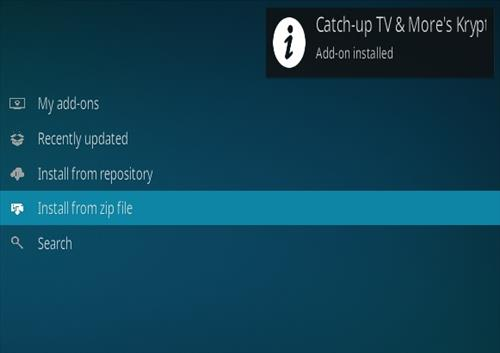 How To Install Catch-Up TV Kodi Addon Step 14