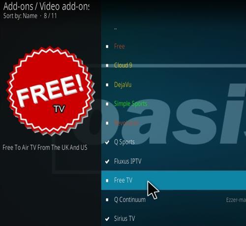 How To Install Free TV Kodi Add-on Step 18