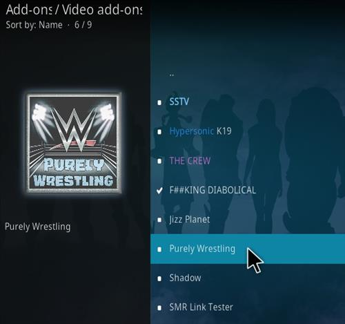 How To Install Purely Wrestling Kodi Addon Step 17