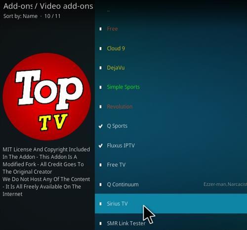 How To Install Sirius Top TV Kodi Addon Step 17