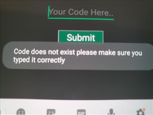 AppLinked Codes Error