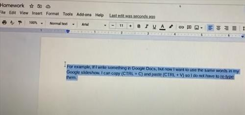 How To Copy and Paste on Chromebook Step 11