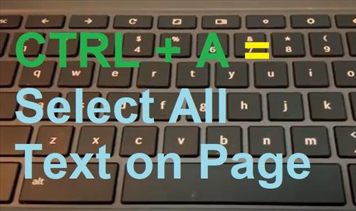 How To Copy and Paste on Chromebook Step CRTL A All Text