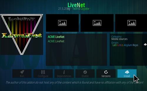 How To Install LiveNet Kodi Add-on Step 18