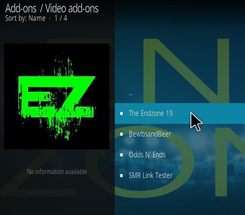 How To Install The End-Zone Kodi Addon Step 17