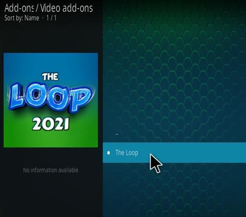 How To Install The Loop Kodi Sports Kodi 19 Matrix Addon Step 17