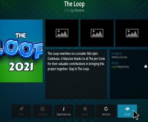 How To Install The Loop Kodi Sports Kodi 19 Matrix Addon Step 18