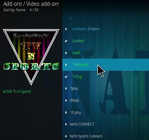 How To Install TvNSports Kodi Add-on Step 117