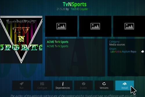 How To Install TvNSports Kodi Add-on Step 118