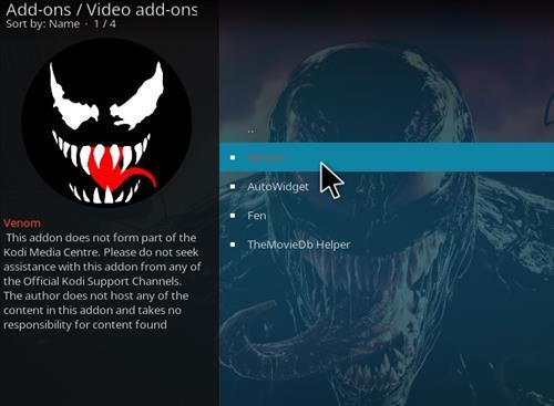 How To Install Venom Kodi Video Real Debrid Addon Ver 118 Step 18