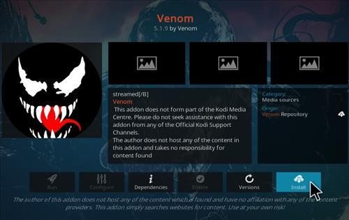 How To Install Venom Kodi Video Real Debrid Addon Ver 118 Step 19