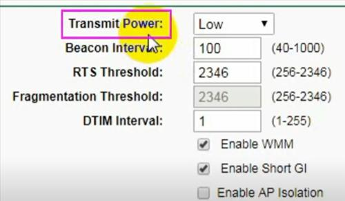 Increase Router Power Settings