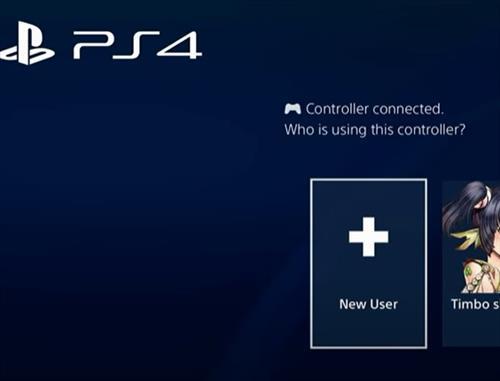 Add New User PS4