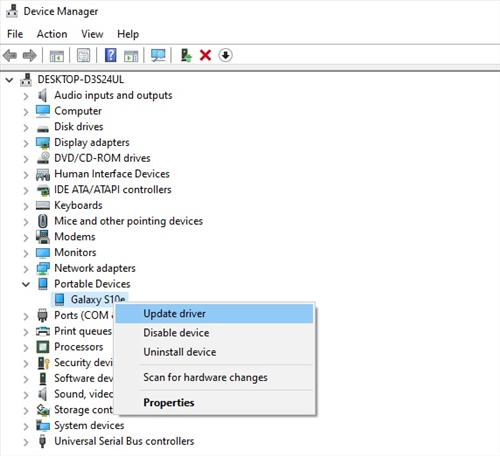 Android Files Not Showing Up on PC Update MTP Drivers 3
