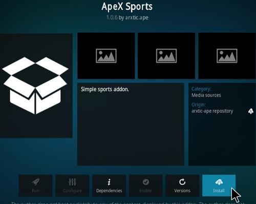 How To Install ApeX Sports Kodi Addon Step 18