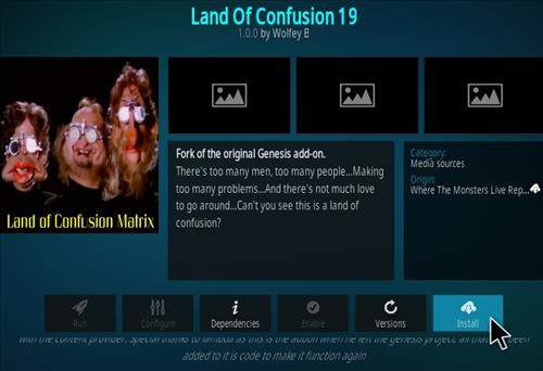 How To Install Land Of Confusion Kodi Add-on Step 19