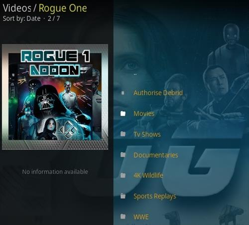 How To Install Rogue One Kodi Addon Overview 3