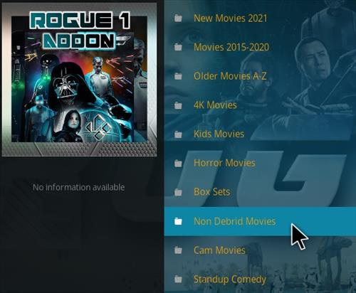 How To Install Rogue One Kodi Addon Overview 4