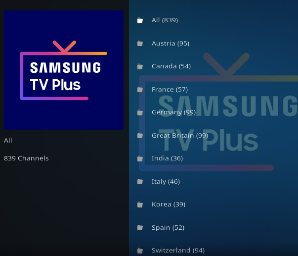How To Install Samsung TV Plus Kodi Addon Overview 2