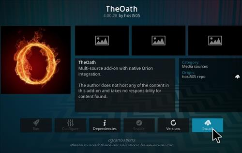 How To Install The Oath Kodi Addon Ver 40028 Step 19