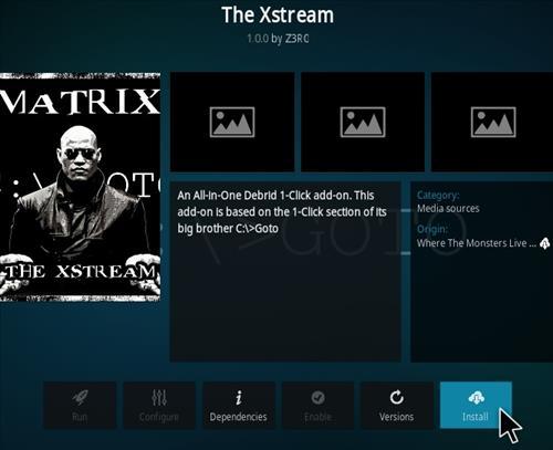 How To Install Xstream Kodi Add-on Step 18