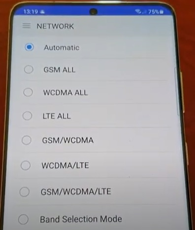 How To Turn Off and Disable 5G On a Samsung Galaxy S21 Using an App Step 5