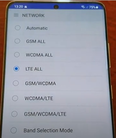 How To Turn Off and Disable 5G On a Samsung Galaxy S21 Using an App Step 7