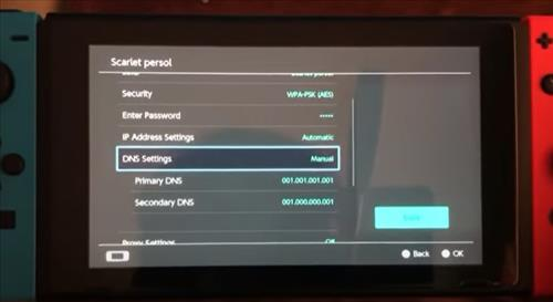 Reasons a Nintendo Switch Won't Connect to WiFi Change the DNS Settings