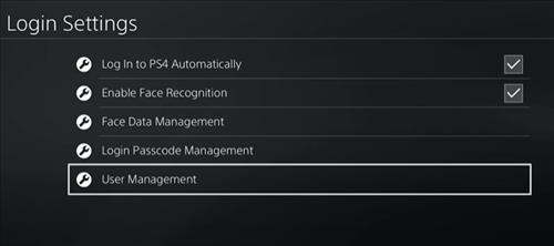 Remove PlayStation Account 2