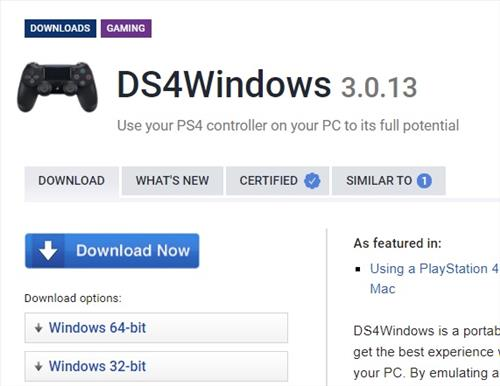 Steam Not Detecting PS4 Controller DS4Windows Download