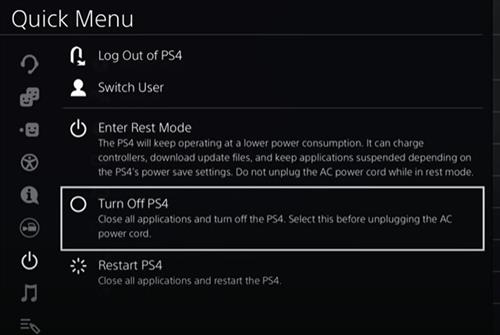 Turn Off the PS4 Completely