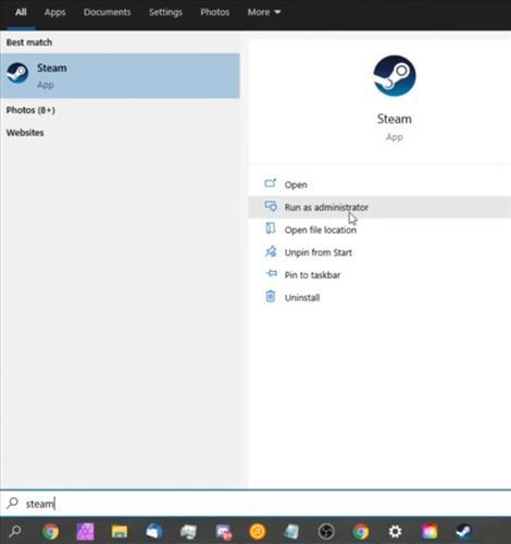 Fixes when Steam Library Black Screen Run as Admin 2